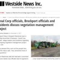 Brockport Officials & Residents meet with Canal Corp Nov 2017.