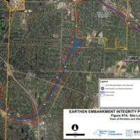 Engineering Maps of vegetation removal locations along the Erie Canal