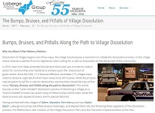 Village Dissolution Bumps & Bruises