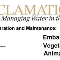 Canal Operation & Maintenance Manuals – US Dept. of the Interior